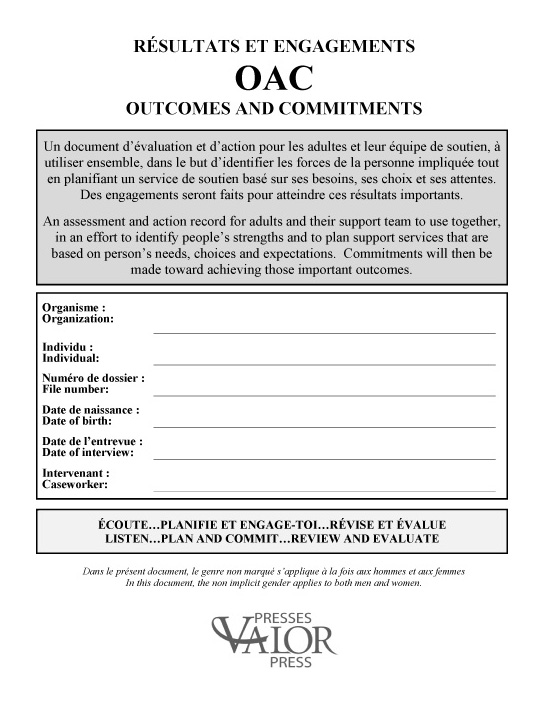 Résultats et engagements OAC Outcomes and Commitments